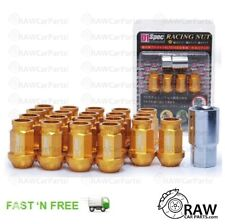 M12 x 1.5 Gold D1 Spec JDM Tuner Lug Wheel Nuts for Honda Civic / Glanza (20pcs)