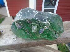 Glass Rock Slag Clear Green/Cobalt 8.10 lbs Rocks Ww92 Landscaping Aquarium