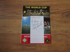 1981 (WORLD CUP QUALIFIER) NORTHERN IRELAND v ISRAEL - BILLY HAMILTON AUTOGRAPH