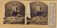 Musicista Scena Teatrale La Grazie Da Dieu Foto Stereo Vintage Albumina Ca 1860