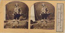 Musicien Scène Théâtrale La Grâce de Dieu Photo Stereo Vintage Albumine ca 1860