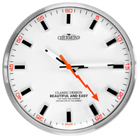 Modern Wall Clock - CHERMOND - metal case , white dial