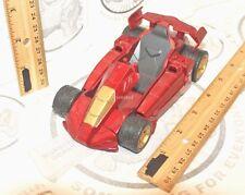 IRON MAN 2 TURBO RACER 2010 HASBRO TOY RACING CAR PULL BACK & GO VEHICLE USED
