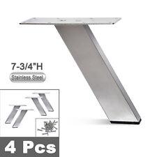Stainless Steel Sofa Legs, Furniture Legs, Rectangular Tube, Angeled - 4pcs Set