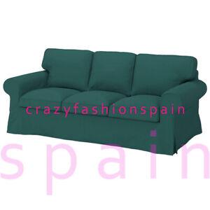IKEA EKTORP Cover for 3-seat sofa, Totebo dark turquoise