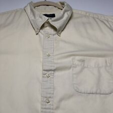 Dockers Men's Short Sleeves Button Up Shirt XXL 18 18 ½ Yellow One Pocket Casual