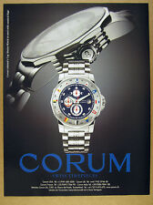 2002 Corum Admiral's Cup Marees Watch nautical flags print Ad advertisement