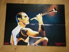 FREDDIE MERCURY - QUEEN - PRINCE  !! MEGA RARE FRENCH POSTER !!FROM 80'S!!!