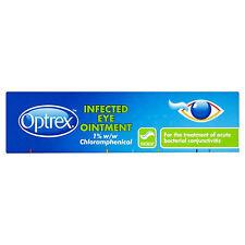 Optrex Infected Eyes Eye Ointment 4g bacterial conjunctivitis Pinkeye BNWT