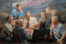 """TRUE BLUES"" by ANDY THOMAS. S/N TRIBUTE EDITION. 30x45 DEMOCRATIC PRESIDENTS!"