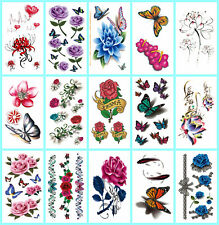 US Seller - 12 sheets temporary tattoo stickers Stick on Tattoos #45n39n17