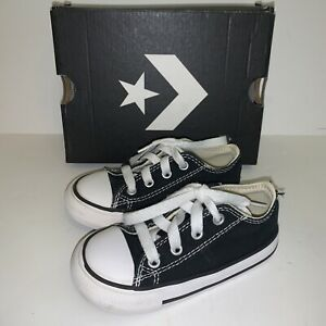 Converse Chuck Taylor All Star Ox Black Infant/Toddler Shoes 7J235 Size 7 w/ Box