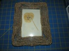 PEARL CLEAR BEAD  PICTURE FRAME NEW FOR 4X6 PICTURE  7 1/2 BY 9 LOVELY