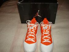 Jordan Melo M8 Basketball Shoes, Size 10.5 (2011)--White/Navy-Orange