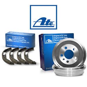 ATE   Original 2 Bremstrommeln Bremsbackensatz Hinten für VW AUDI SEAT