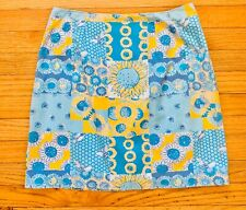 Lilly Pulitzer Sunflower Skirt Floral Bees Size 8