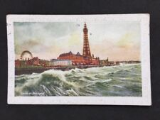 Vintage Postcard: Lanc: Blackpool #T36: Storm: Posted 1920s