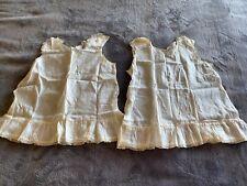 vintage 1940s Off White Handmade Baby Toddler Clothing Slips Ultra Rare!
