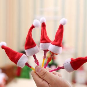 1 lot de 10 Bonnets de Noël pour Sucettes Neufs