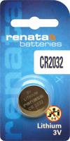 10 x Renata 2032 Watch Batteries, 3V Lithium, CR2032