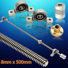 L50cm T8 2mm Lead Screw Horizontal Double Track + Mounted Bearing Shaft Coupling
