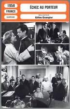 ECHEC AU PORTEUR - Meurisse,Moreau,Reggiani (Fiche Cinéma) 1958 - Not Delivered