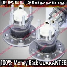 PAIR REAR 4 STUD Wheel Hub Bearing 01-03 Saturn L200 L300 LW200 LW300 FWD w/ABS