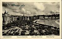 San Sebastian alte AK Espana 1957 gelaufen Parque de Alderdi Eder Grünanlagen
