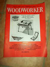 Woodworker December 1960 ~ Retro Vintage Illustrated Magazine + Advertising