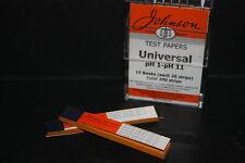 Universal Indikator Papier PH 1-11 40 streifen in 2 bücher Brandneu