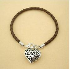 Leather Bracelet with Heart shape pendant