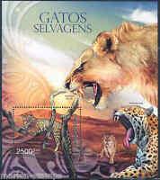 GUINEA BISSAU 2012 WILD CATS  SOUVENIR SHEET MINT NH