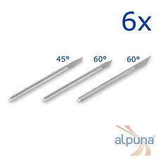 6 Plottermesser für PCUT 45° ALPUNA Qualitätsmesser