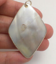 100% Natural Mother Of Pearl Diamond Pendant