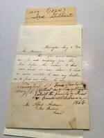 1864 Handwritten Letter Civil Water Era Ira Gilbert Newington Ct % Sarah Gilbert