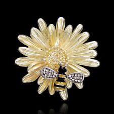 Vintage Bee Animal Sunflower Enamel Crystal Brooch Pin Women Costume Jewelry US