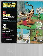 Walt Disney's WINNIE the POOH &TIGGER TOO gaf Talking Viewmaster Reels in Box