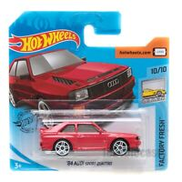 '84 Audi Sport Quattro red, 2020 Hot Wheels scale 1:64, model car toy gift