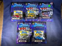 I5-54 MUSCLE MACHINES - LOT OF 5 - '69 CHEVY CAMARO - NIB - 1:64 SCALE
