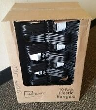 Mainstays Plastic Tubular Slotted Adult Size Hangers (Lot of 100)