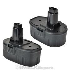 2 NEW 18V NI-CD Battery for DEWALT DC9096 DE9096 DW9096 18 Volt Cordless Drill