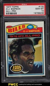 1977 Topps Football O.J. Simpson ALL-PRO #100 PSA 10 GEM MINT