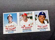 1977 Hostess Joe Morgan , Reggie , Palmer #1,2,3 Panel - YANKEES —