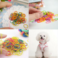 170x pet dog hair bows clips/rubber bands pet grooming hair bows accessorie A0D9
