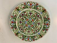 Antique Austrian Cowell & Hubbard Co. Porcelain Hand Painted Plate w Floral Dec.