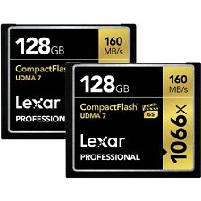 Lexar 128GB Pro 1066x UDMA 7 Compact Flash CF Pro Memory Card 2 Pack-Total 256GB