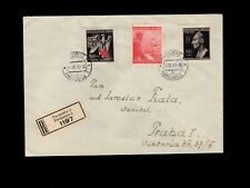 Germany WWII Hitler Heydrich Registered Pardubitz Cover & Receipt 1943 Late 1h