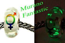 Abalorios Fluorescentes/Abalorio-Cristal Murano-BRILLA EN OSCURIDAD