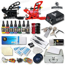Professional Rotary Tattoo Machine Kit 2 Gun Power Supply with Carrying Case Set