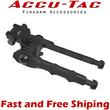 "Accu-Tac BR-4 Aluminum Picatinny Mount Rifle Bipod w/ Rubber Feet (5.3""-6.75"")"